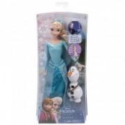 Frozen Papusa Elsa Stralucitoare si Olaf
