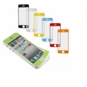 James Zhou Displayfilm skyddsfilm till iPhone5 och iPhone5S för fram- och baksida (Guldvit)