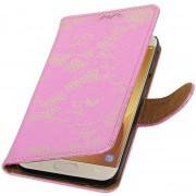 AA-Case Roze Book Case Bloemen design Samsung Galaxy J5 (2017) J530F