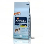 15kg Advance Maxi Light pollo y arroz pienso para perros