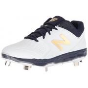 New Balance Women's Velo V1 Metal Softball Shoe, navy/white, 13 D US