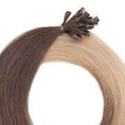 Rapunzel® Hair extensions Bondings Original Glatt O2.0/7.5 Medium Brown Ombre 40 cm