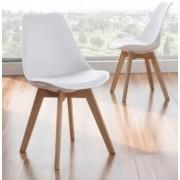 items-france MIAMI - Lot de 2 chaises similicuir 48x54x84cm