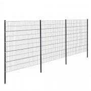 Телена оградна система, две димензии [pro.tec]®, Сива, 6 x 2 m