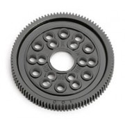 Associated AS4462 100T 64DP Spur gear. With 1/8th holes for pan car diff.