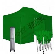 ray bot Gazebo pieghevole 3x4,5 verde Exa 55mm alluminio con laterali PVC 350g