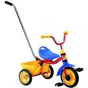 Transporter Passenger szülőkormányos és szülő fékes tricikli - piros-sárga-kék szín