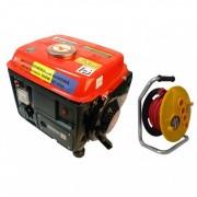 Pachet Generator Electric pe benzina + Prelungitor 35m 3x1.5 BullMax, Micul Fermier 900W