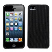 Protector Iphone 5 Negro Carbon