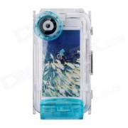 WP-i5 40M de buceo impermeable funda protectora de fotos para IPHONE 5 - azul