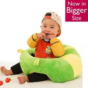 Baby Soft Plush Cushion Cotton Sofa Seat Infant Safety Car Chair Toddler Learn to Sit Stool Training Kids Support Sitting for Dining - Colour May Vary