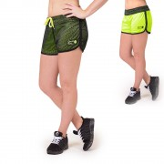 Gorilla Wear Madison Reversible Shorts - Black/Neon Lime - S