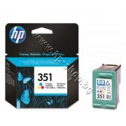 Касета HP 351, Tri-color, p/n CB337EE - Оригинален HP консуматив - касета с глава и мастило