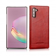 PIERRE CARDIN Genuine Leather+PC Casing for Samsung Galaxy Note 10 / Note 10 5G - Red