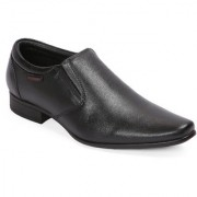 Red Chief Black Low Ankle Leather Slip On Shoe (RC3538 001)