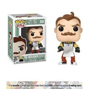 The Neighbor w/Apron & Cleaner (f.y.e. Exclusive): Funko POP! Games x Hello Neighbor Vinyl Figure + 1 Video Games Themed Trading Card Bundle [#265]