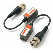Passive CCTV Camera Balun set over network cable - TX and RX unit to connect power and signal