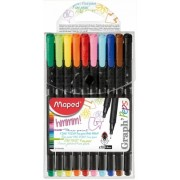 Fineliner Graph Peps Compact 10 culori asortate Maped