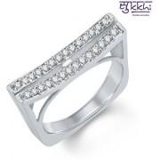 Sukkhi Stunning Rhodium Plated Cubic Zirconia Ring