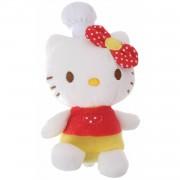 Jemini hello kitty knuffel fait la cuisine meisjes rood 11 cm