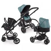 Бебешка количка KinderKraft Trend 3 в 1 - син