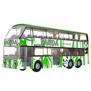 Childrens Toy Car Alloy Double Decker Bus Model , Panda Version