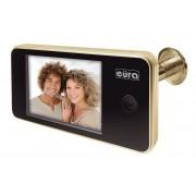 Digitální dveřní kukátko Eura-Tech ERIS C11A102 3.2'' LCD, širokoúhlý zlatý hledáček