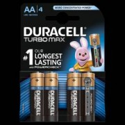 Baterii alcaline AA R6 Duracell Turbo Max 1 5 V blister 4 baterii