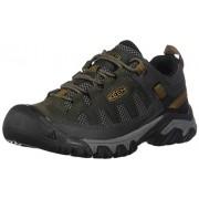 KEEN Men's Targhee Vent Hiking Shoe, Raven/Bronze Brown, 12 M US