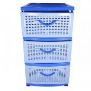 Dulap depozitare plastic, 3 sertare, pentru bucatarie / baie / jucarii