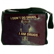 I Am Drugs Designer Laptop Messenger Bag