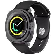 Taktikai szilikon heveder a Samsung Watch Gear Sport fekete (EU buborékfóliához)