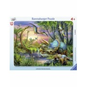Puzzle Dinozauri In Zori, 45 Piese Ravensburger