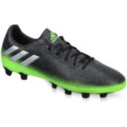 Adidas MESSI 16.4 FXG Football Shoes For Men(Grey, Silver, Green)