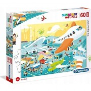 Puzzle Clementoni SuperColor Maxi: The big Airport, 60 piese
