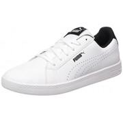 Puma Women's Puma Smash Wns Perf Puma White-Puma Black Sneakers - 6 UK/India (39 EU)(36372403)