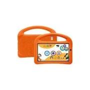 Tablet DL PlayKids 8GB Tela 7 Intel Quad Core Wi-Fi Branco/Laranja - Capa com Alça