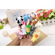 Kuhu Creations® Supreme 10 Pcs Animal, Baby Story Telling Finger Puppets.