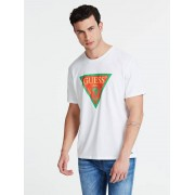 Guess T-Shirt Logo Lissabon - Wit multi - Size: Extra Small