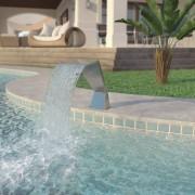 vidaXL Pool Fountain Stainless Steel 64x30x52 cm Silver