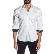 Jared Lang Woven Trim Fit Shirt WHITE