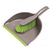 York műanyag szemeteslapátlapát gumis éllel + kefe - 306205