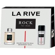 La Rive Rock Man - zestaw, dezodorant, woda toaletowa