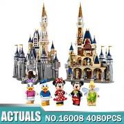 Generic Model Building Block Kid DIY Toy Birthday Gift Compatible 71040 16008 Cinderella Princess Castle City Set 4080pcs