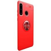 Teleplus Huawei P30 Lite Ravel Ring Silicone Case Red