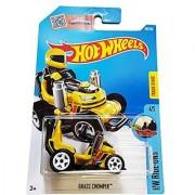 Hot Wheels 2016 HW Ride-Ons Grass Chomper (Ride-On Lawn Mower) 69/250 Yellow