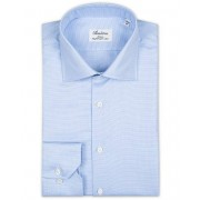 Stenströms Slimline Houndstooth Shirt Blue