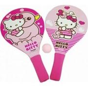 Palete Hello Kitty din lemn pentru plaja, cu minge
