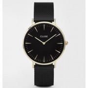 Дамски часовник CLUSE CL18117 La Bohème Gold Black/Black