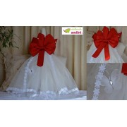Lumânare Botez Red Bow